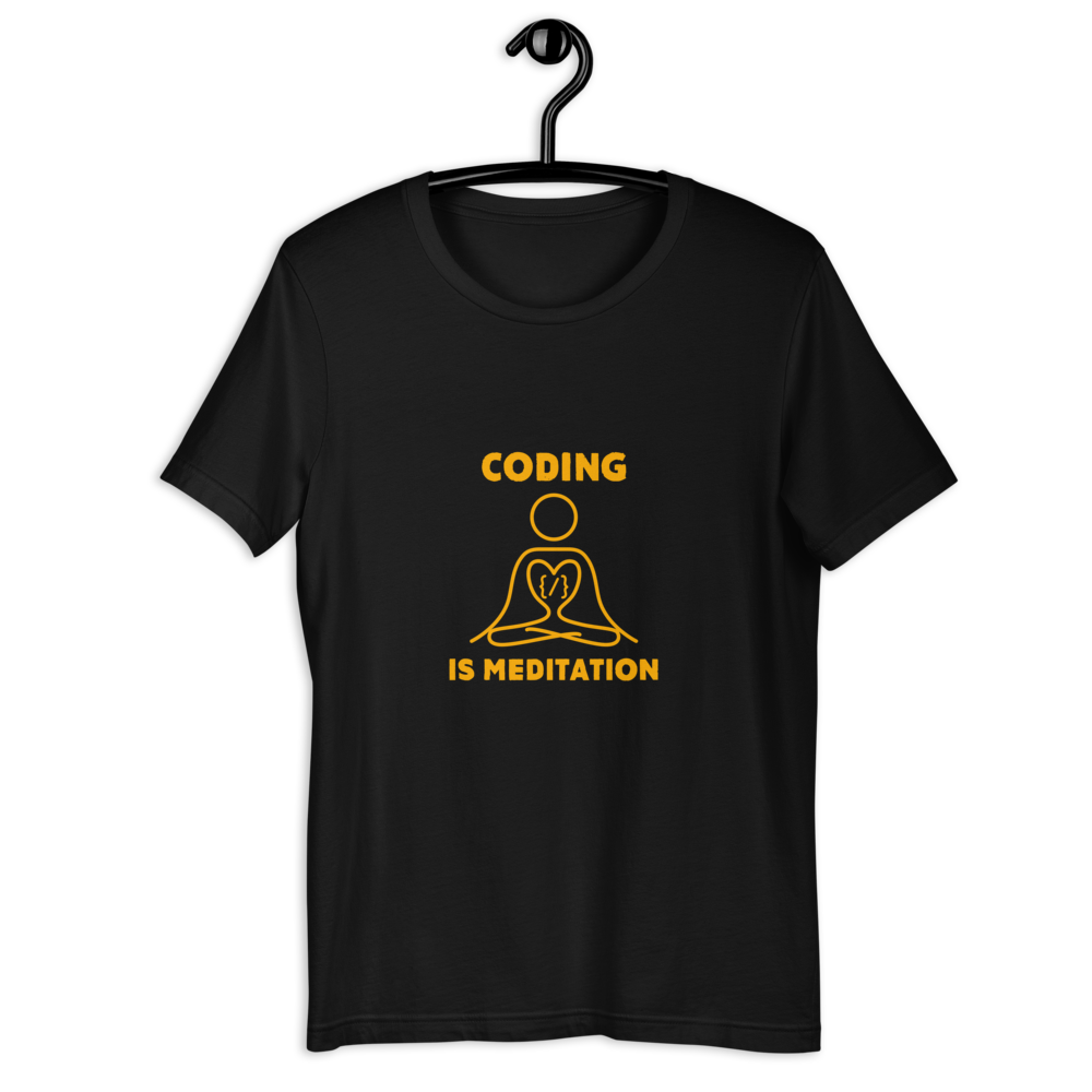CODING IS MEDITATION T-SHIRT