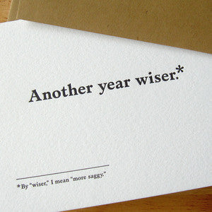 Another Year Wiser Footnotes Card