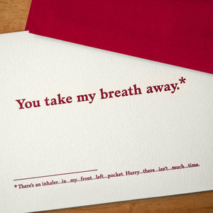 Take My Breath Away Footnotes Card