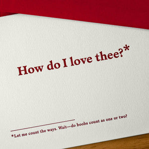 How Do I Love Thee Footnotes Card