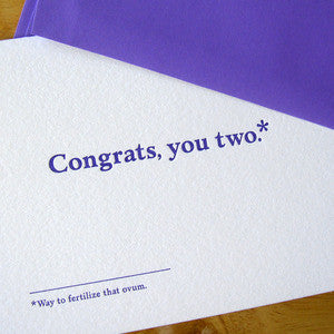 Congrats, You Two Footnotes Card