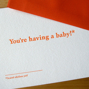 You're Having a Baby Footnotes Card