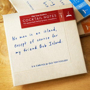 Cocktail Notes - Volume 1 Coasters