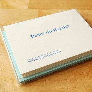Peace on Earth Footnotes - Boxed Set of 6