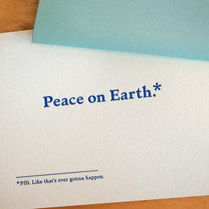 Peace on Earth Footnotes Card
