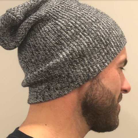 Beautifull Boundaries- Slouchy men's hat salt and pepper