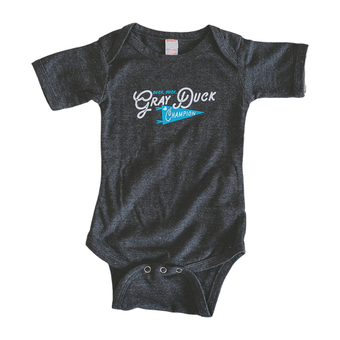 Gray Duck Champion baby bodysuit