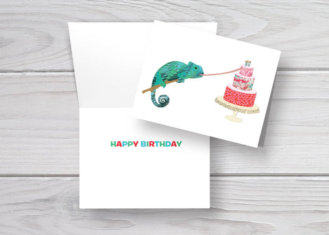 Birthday Chameleon Card