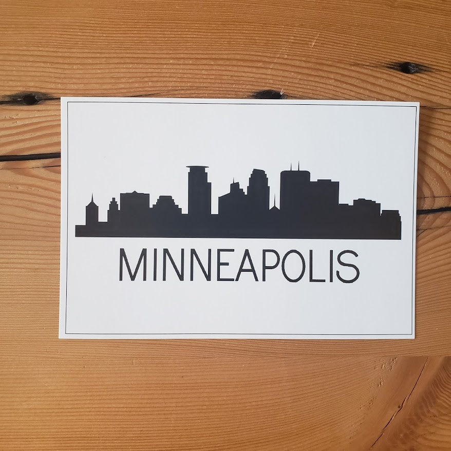 B & W Minneapolis Postcard