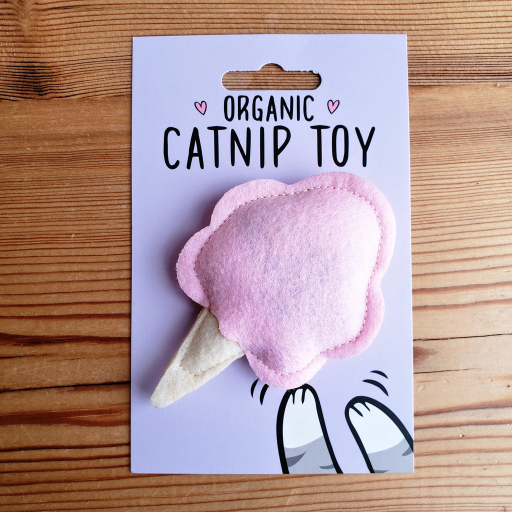 Catnip Cotton Candy Cat Toy