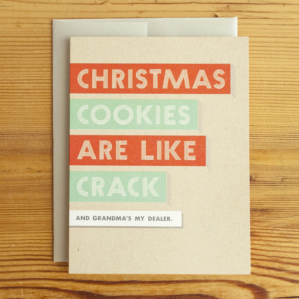 Christmas Cookies Crack Classic Card