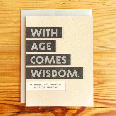 Wisdom and Phlegm Classic Card