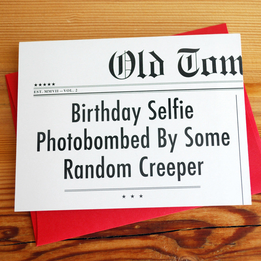 Birthday Selfie Headlines Card