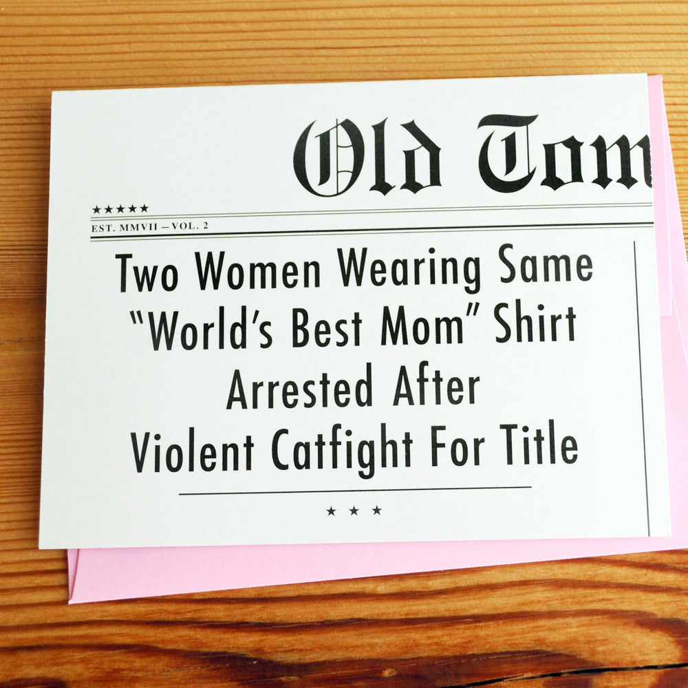 World's Best Mom Headlines Card