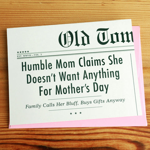 Humble Mom Headlines Card