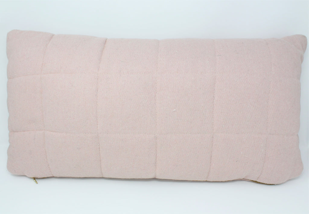 Pink quilted pillow