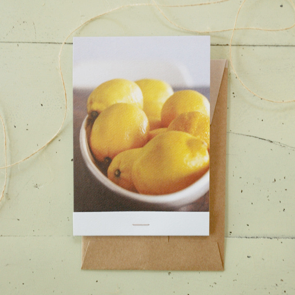 Lemons Matchbook-Fold Card