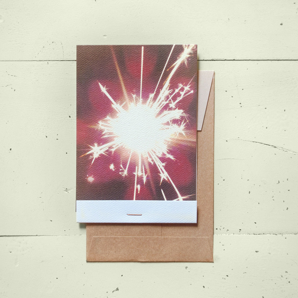 Sparkler Matchbook-Fold Card