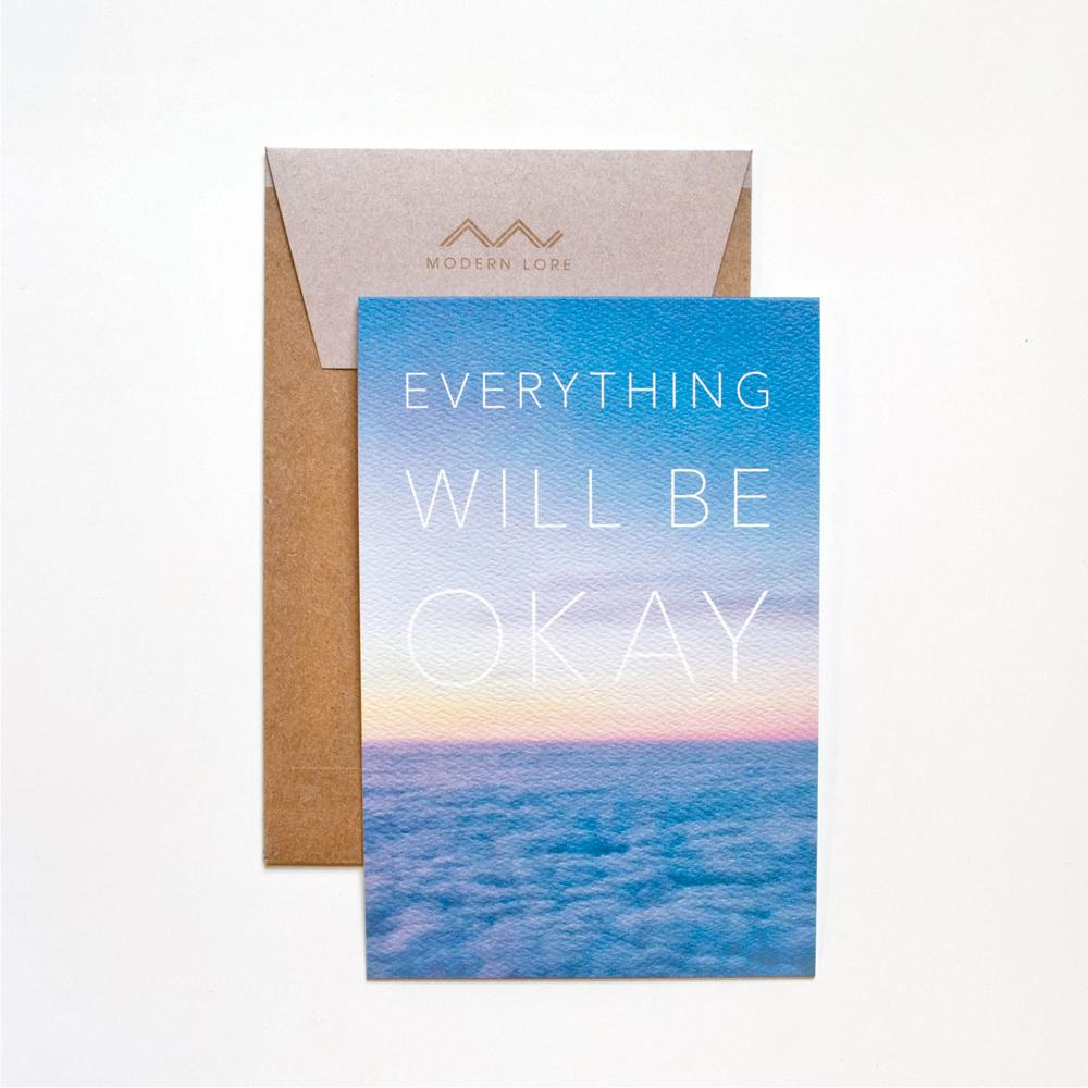 Everything Will Be Okay Top-Fold Card