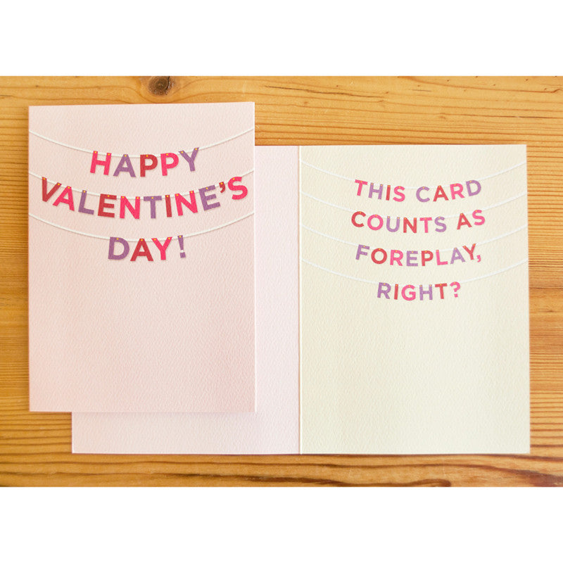 Foreplay Valentine Banner Card