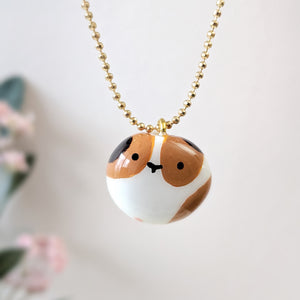 Cute handmade guinea pig necklace