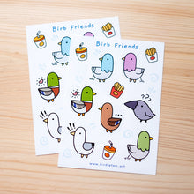 Load image into Gallery viewer, Birb friends sticker sheet