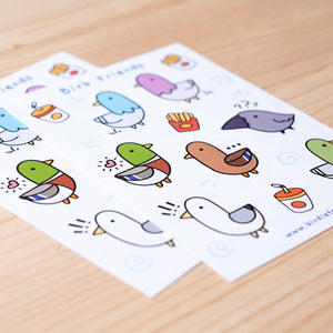 Birb friends sticker sheet