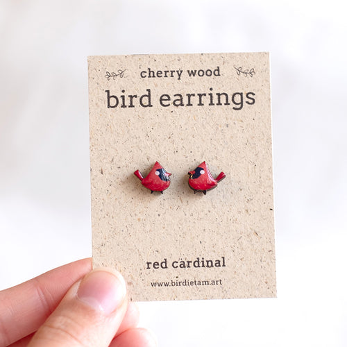 Mini bird earrings