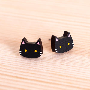 Luna cat earrings (purple)