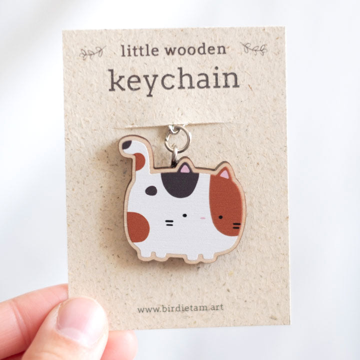 Cat keychain - calico