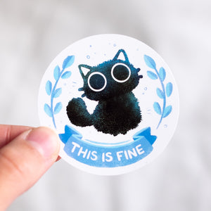 This is fine cat sticker