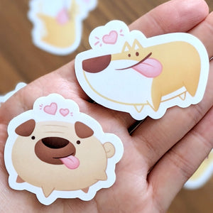 Cute funny dog stickers