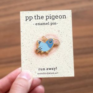 PP the Pigeon Enamel Pin
