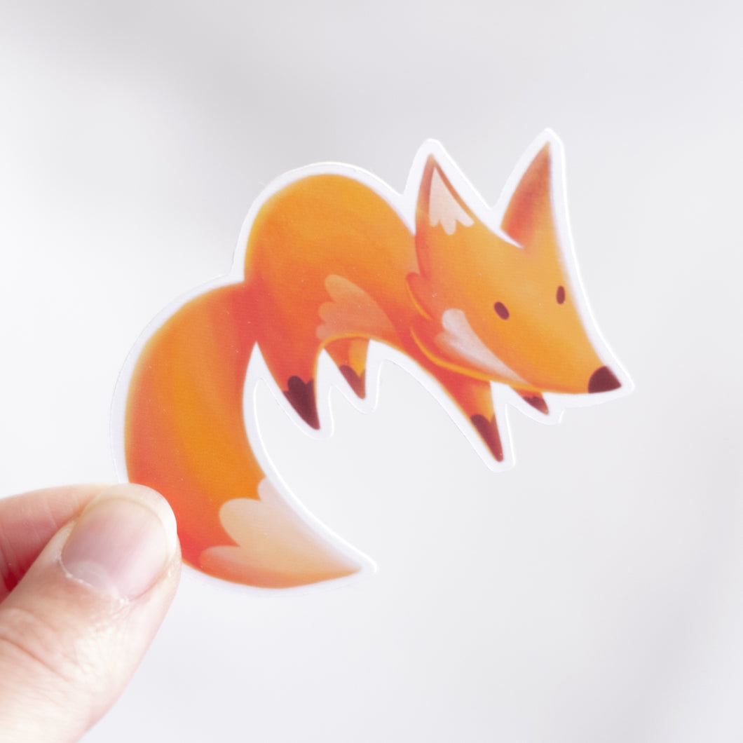 Vinyl Fox Sticker