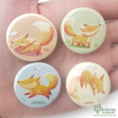 Cute illustrated fox magnets