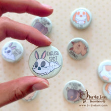 Load image into Gallery viewer, A cute drawn English Spot bunny on a magnet