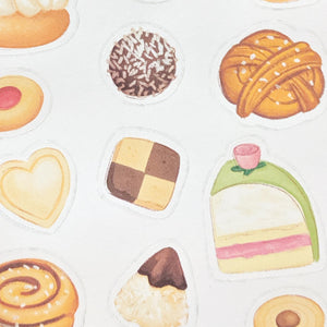 Close up of swedish fika stickers