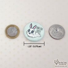 Load image into Gallery viewer, Sizing reference for bunny magnets and pins