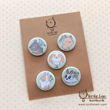 Load image into Gallery viewer, Cute bunny rabbit magnets shown with packaging
