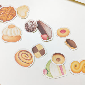 Swedish fika pastry stickers
