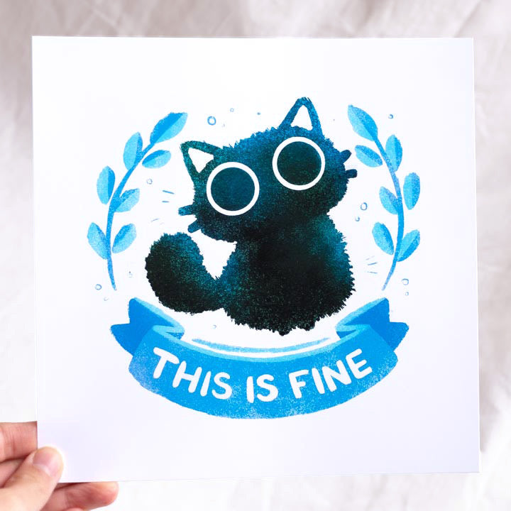 This is a fine cat print