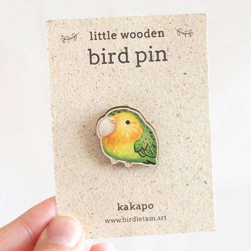 New Zealand bird pin