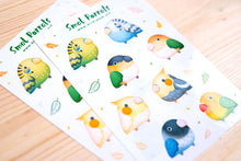 Load image into Gallery viewer, Small parrots sticker sheet