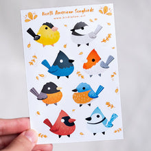 Load image into Gallery viewer, North American songbirds sticker sheet