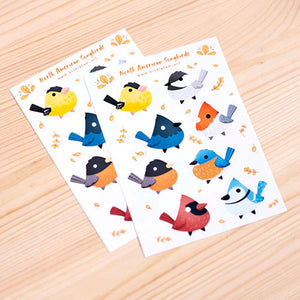 North American songbirds sticker sheet
