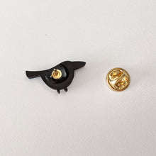 Load image into Gallery viewer, Handmade magpie pin by birdie tam
