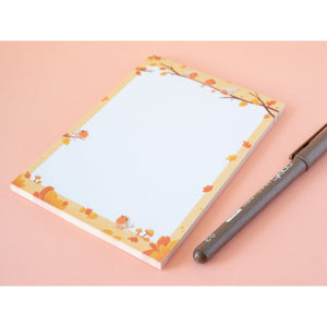 Cute autumn bird notepad (A6)
