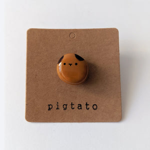 Cute handmade guinea pig potato pins