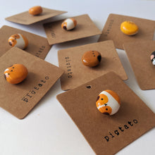 Load image into Gallery viewer, Cute handmade guinea pig potato pins
