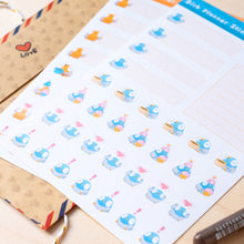 Load image into Gallery viewer, Bird planner stickers